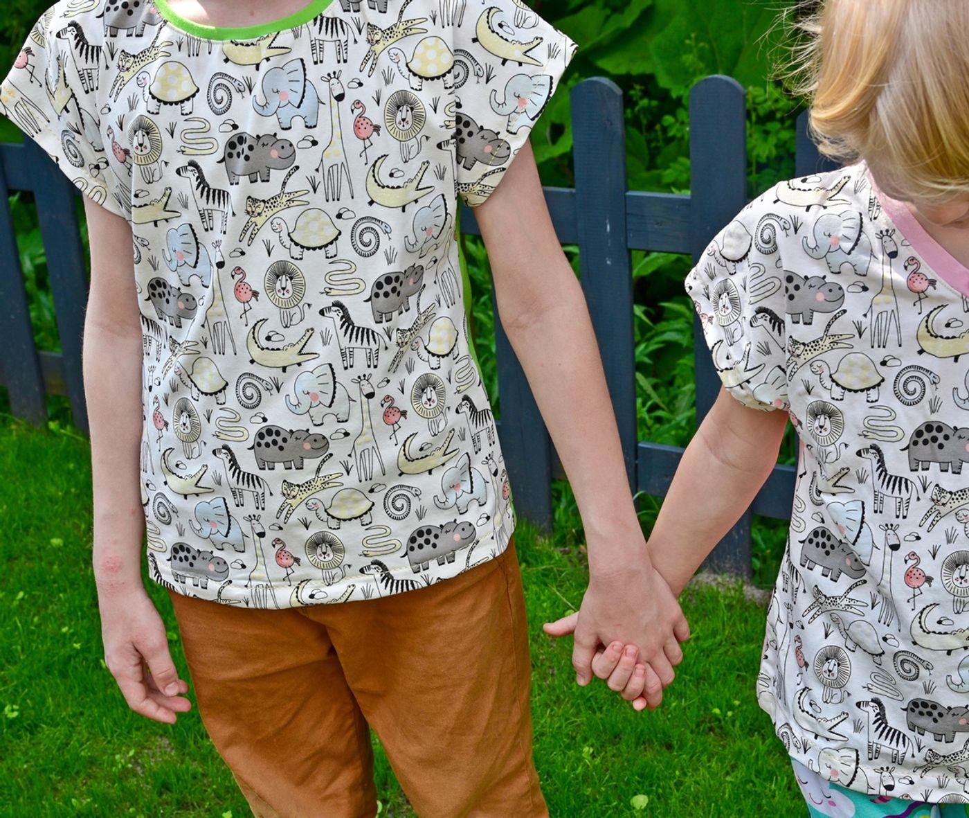 Produktfoto 14 von MiToSa-Kreativ für Schnittmuster Kombi E-Book Family Shirt Kinder, Damen & Männer Gr. 74 - 164, 34 - 52 & XS - 3XL