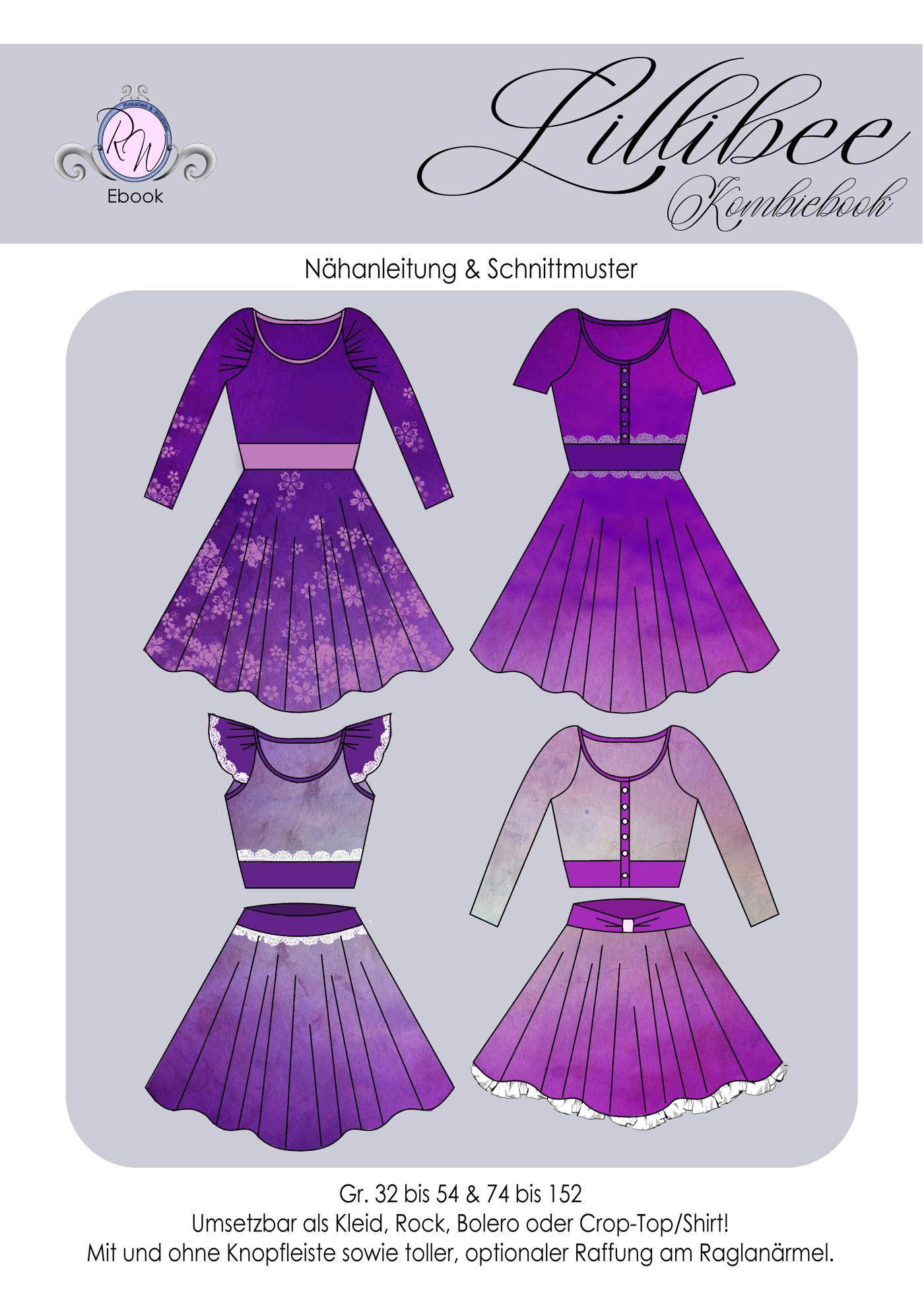 Produktfoto 1 von Rosalieb & Wildblau für Schnittmuster Kombi-Ebook Lillibee Damen und Mädchen