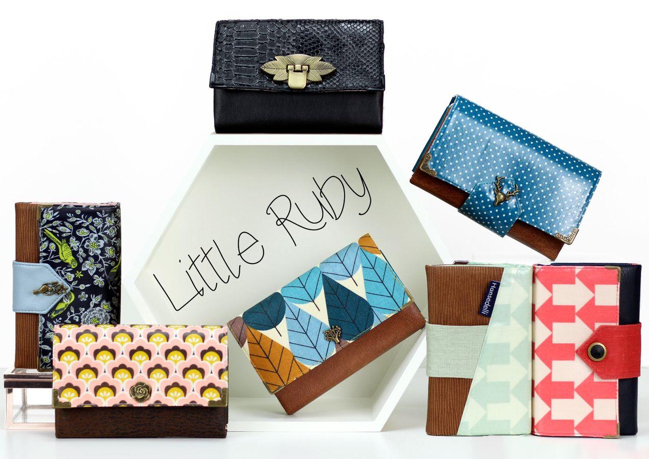 Produktfoto 4 von Hansedelli für Schnittmuster Tasche FoldOver 2.0 + Geldbörse Little Ruby
