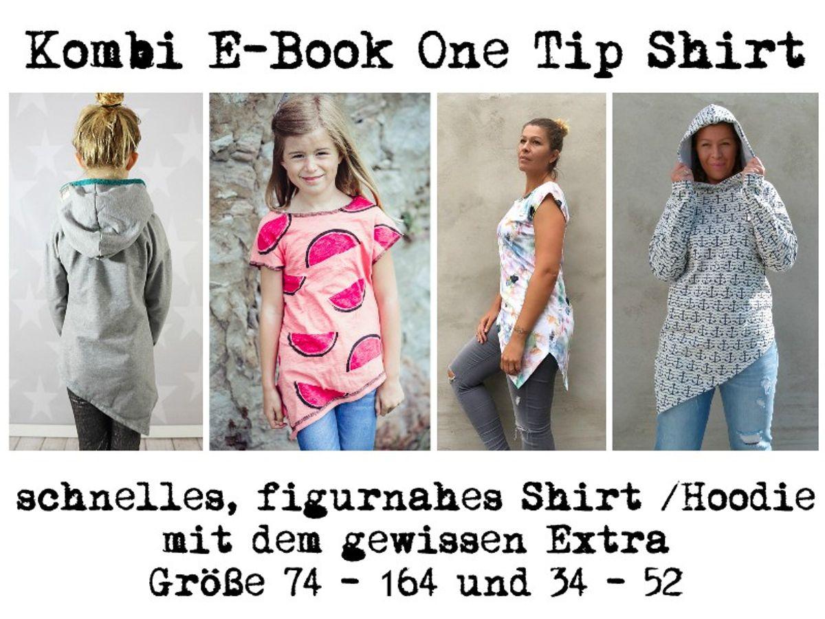Produktfoto 1 von MiToSa-Kreativ für Schnittmuster Kombi E-Book One Tip Shirt / Hoodie Gr 34 - 52 & 74 - 164