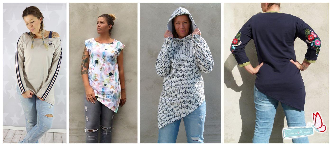 Produktfoto 2 von MiToSa-Kreativ für Schnittmuster Kombi E-Book One Tip Shirt / Hoodie Gr 34 - 52 & 74 - 164