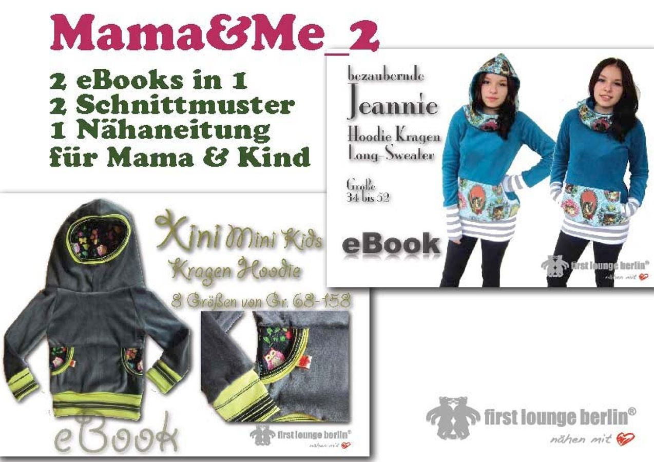 Produktfoto 4 von Firstlounge Berlin für Schnittmuster Mama & Me_2  Xini/Jeannie