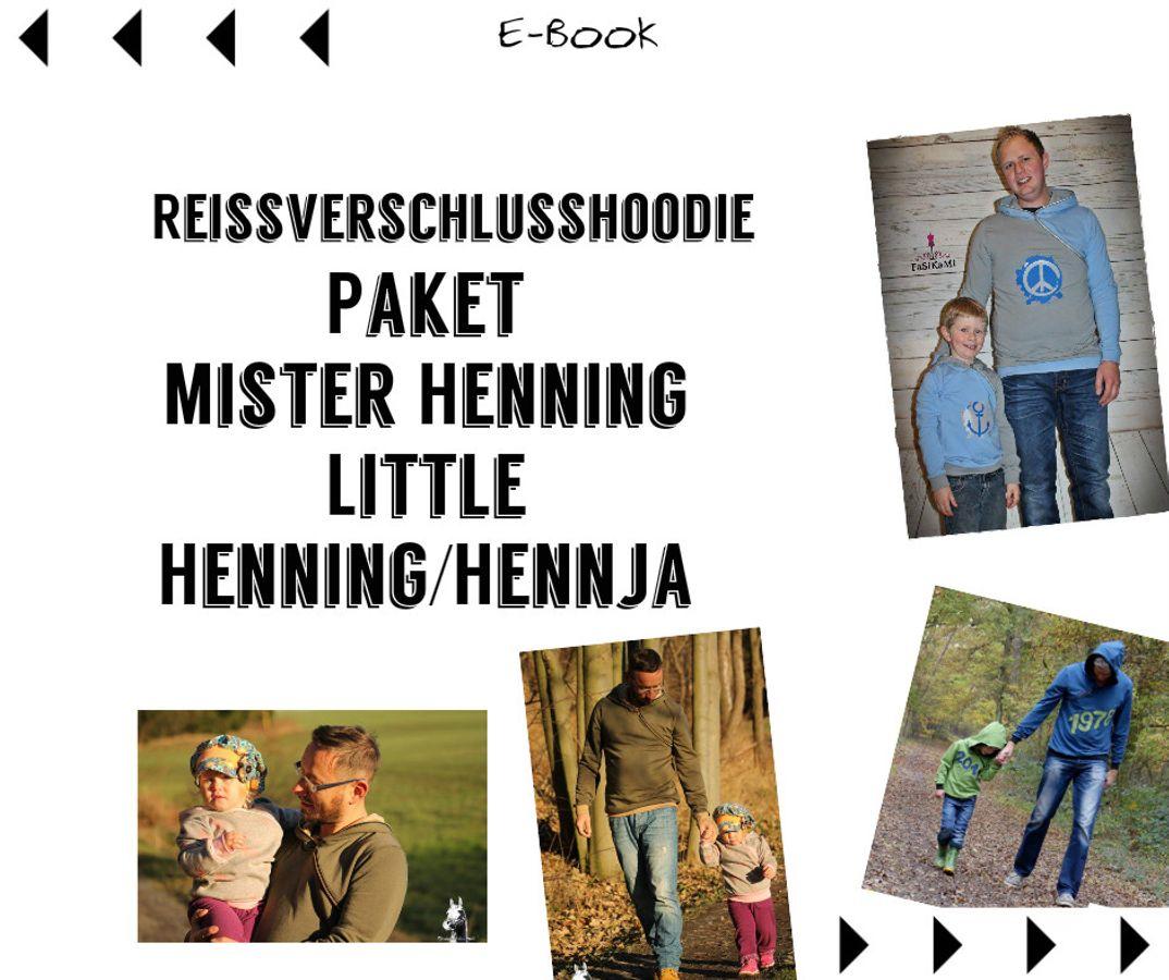 Produktfoto 1 von Mamili1910 für Schnittmuster E-BookPaket Mister Henning & Little Hennja/Henning