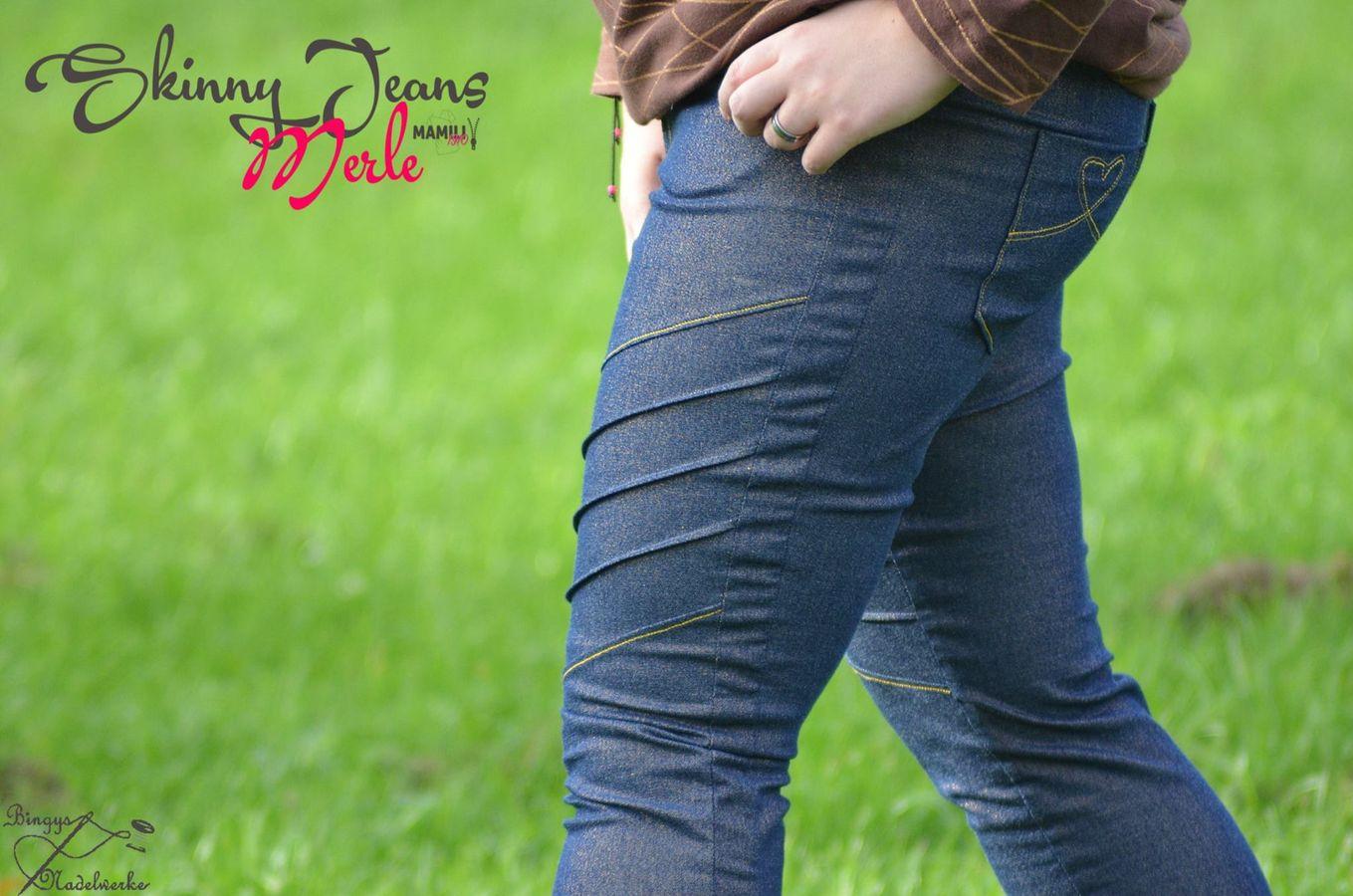 Produktfoto 11 von Mamili1910 für Schnittmuster E-Book Skinny&Bootcut Paket Jeans Merle Gr. 30-48