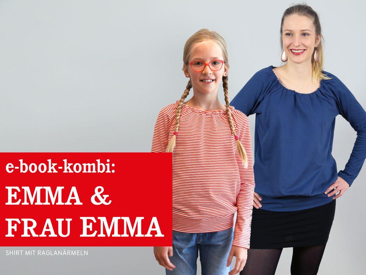 Produktfoto 1 von STUDIO SCHNITTREIF für Schnittmuster EMMA & FRAU EMMA Raglanshirts im Partnerlook