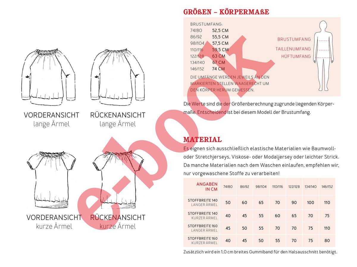 Produktfoto 3 von STUDIO SCHNITTREIF für Schnittmuster EMMA & FRAU EMMA Raglanshirts im Partnerlook