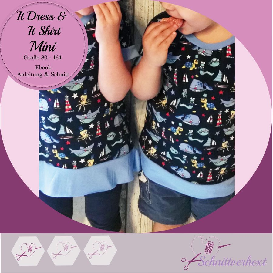 Produktfoto 1 von Schnittverhext für Schnittmuster   It Dress & It Shirt Mini