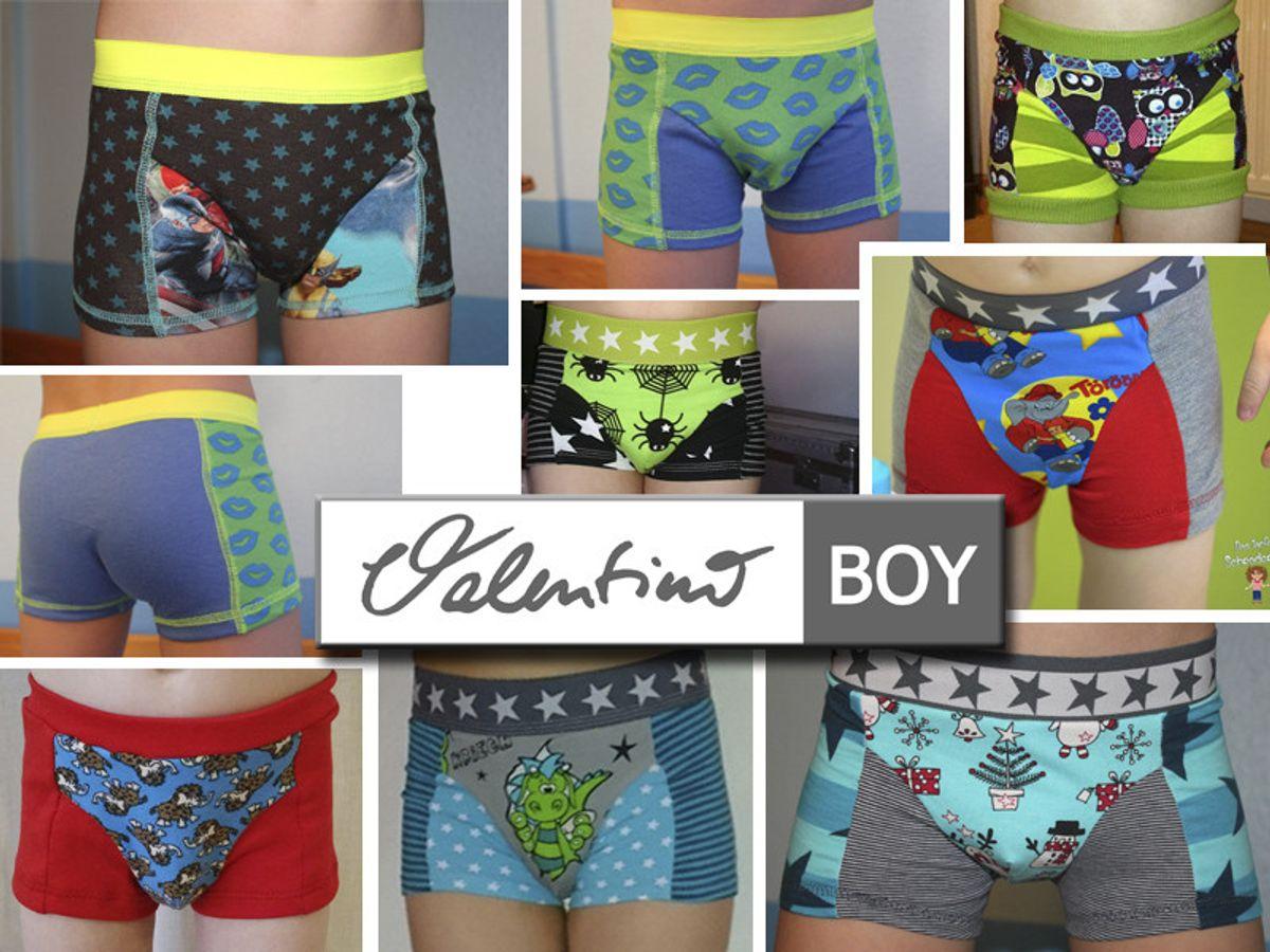 Produktfoto 3 von Elsterglück für Schnittmuster Valentino Vater-Sohn Unterhose Shorts Boxershorts