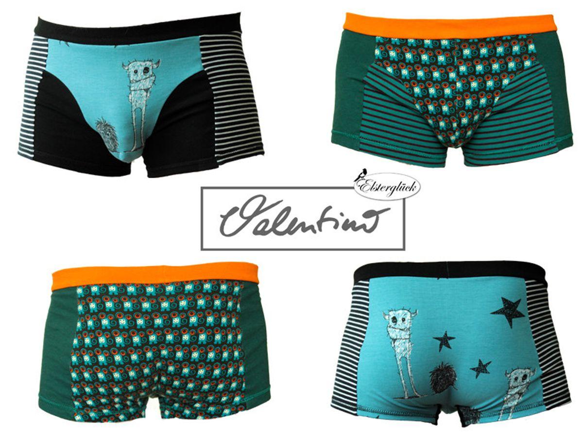 Produktfoto 4 von Elsterglück für Schnittmuster Valentino Vater-Sohn Unterhose Shorts Boxershorts