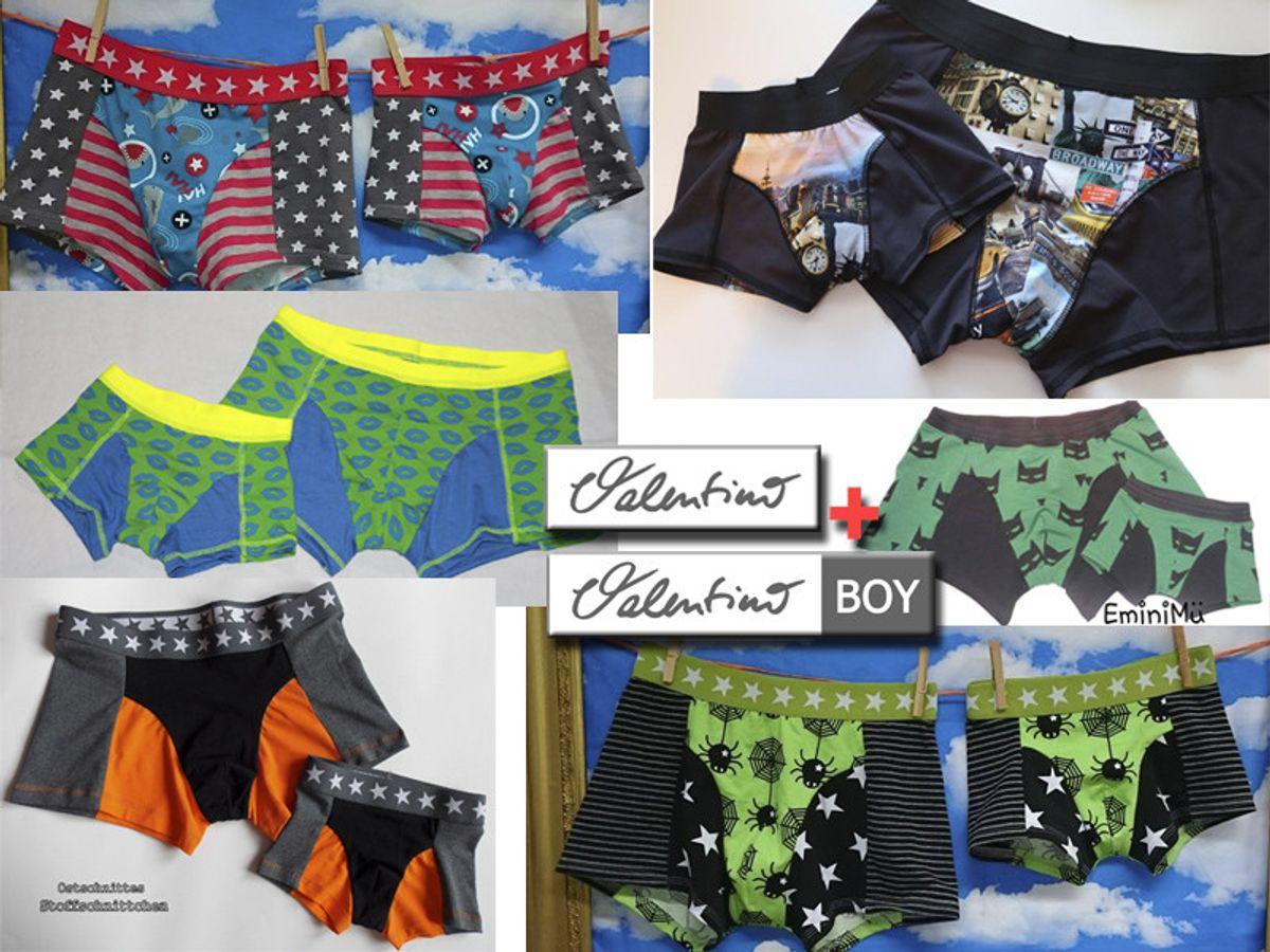 Produktfoto 1 von Elsterglück für Schnittmuster Valentino Vater-Sohn Unterhose Shorts Boxershorts