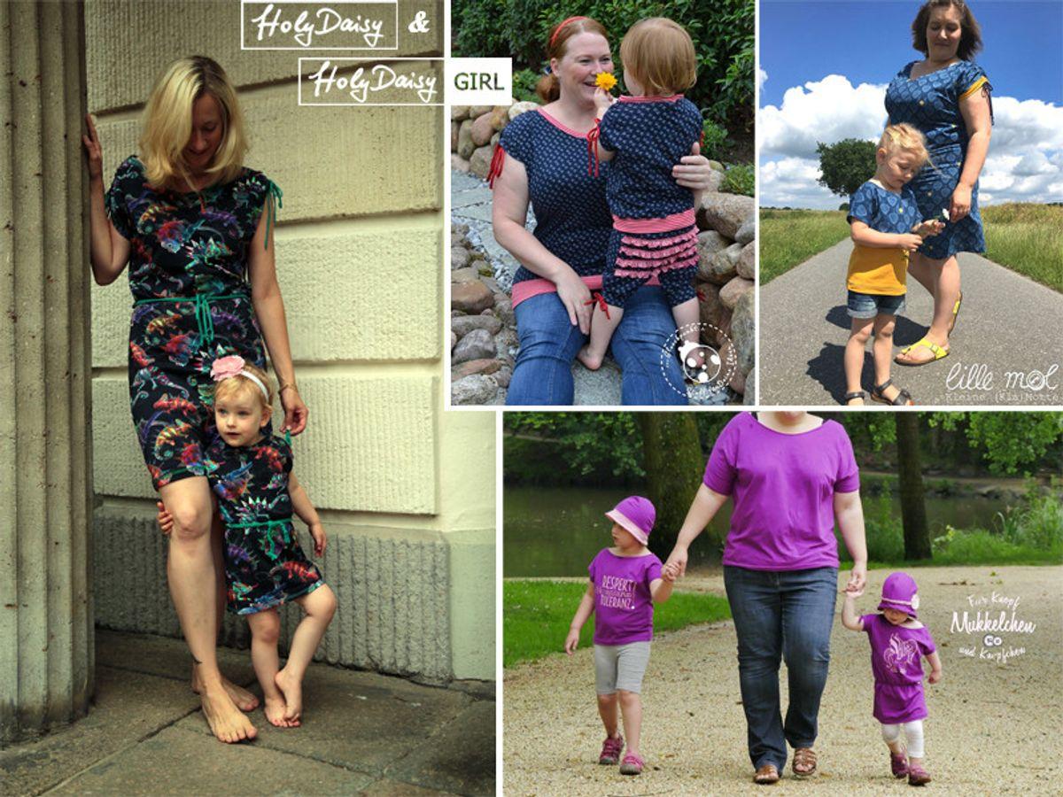 Produktfoto 2 von Elsterglück für Schnittmuster HolyDaisy Mutter-Tochter-Kleid + Shirt