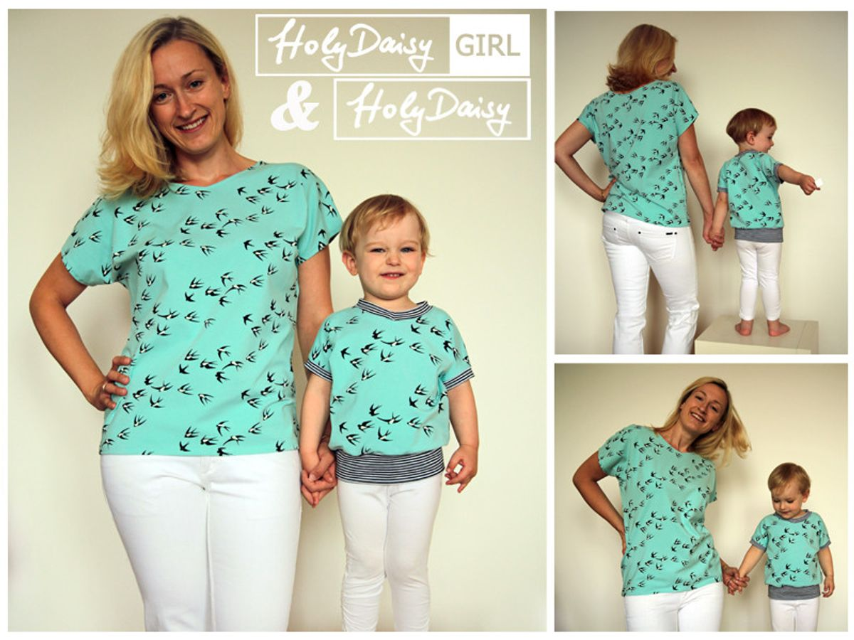 Produktfoto 3 von Elsterglück für Schnittmuster HolyDaisy Mutter-Tochter-Kleid + Shirt