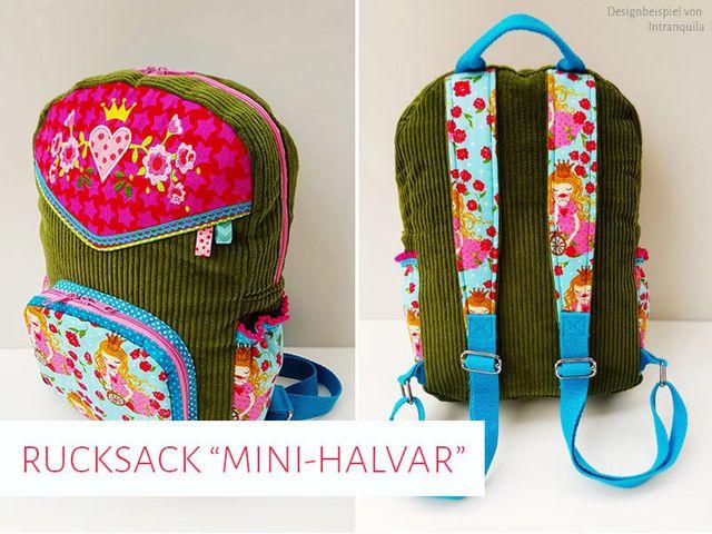 Produktfoto von kreativlabor Berlin zum Nähen für Schnittmuster Kinder-Rucksack Mini-Halvar