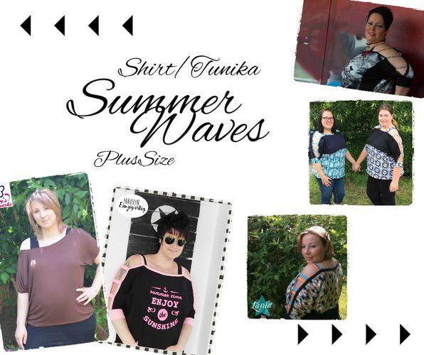 Schnittmuster Shirt/Tunika SummerWaves Plus Size von Mamili1910