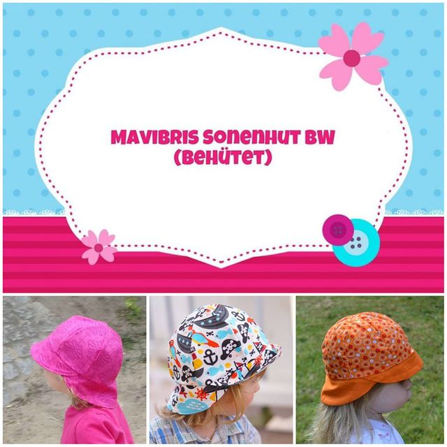 Produktfoto von Mavibri zum Nähen für Schnittmuster Mavibris Sonnenhut BW