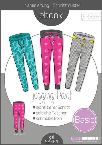 Produktfoto von ki-ba-doo zum Nähen für Schnittmuster Basic-Jogging Pants Kids