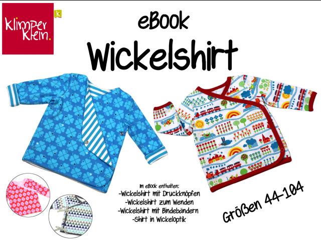 Produktfoto von klimperklein zum Nähen für Schnittmuster Wickelshirt