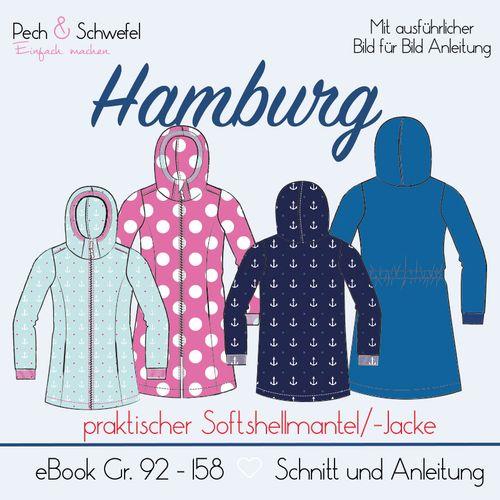 Produktfoto von Pech & Schwefel zum Nähen für Schnittmuster Softshellmantel/-jacke Hamburg Kids