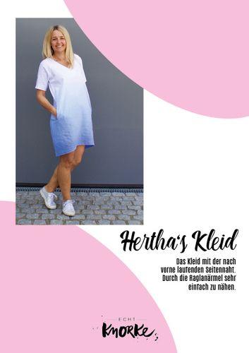 Produktfoto von echt Knorke zum Nähen für Schnittmuster Hertha's Kleid