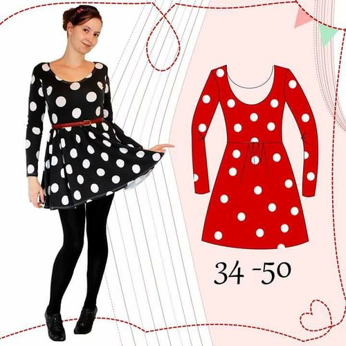 Produktfoto von Anni Nanni zum Nähen für Schnittmuster AnniNanni Ballerinakleid