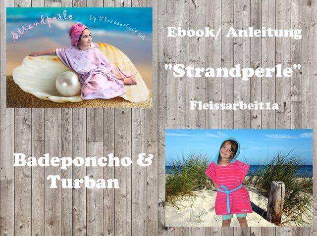 Produktfoto von Fleissarbeit1a zum Nähen für Schnittmuster Badeponcho & Turban Strandperle