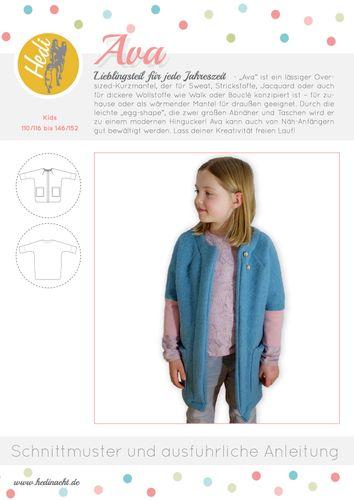 Produktfoto von Hedi zum Nähen für Schnittmuster Mantel Ava