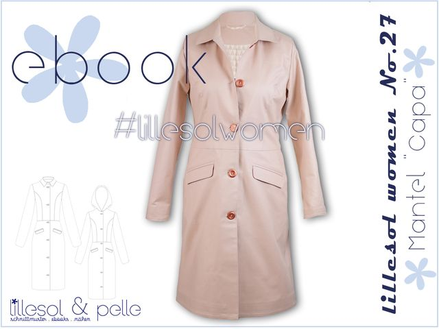 Produktfoto von Lillesol & Pelle zum Nähen für Schnittmuster Lillesol women No.27 Mantel Capa
