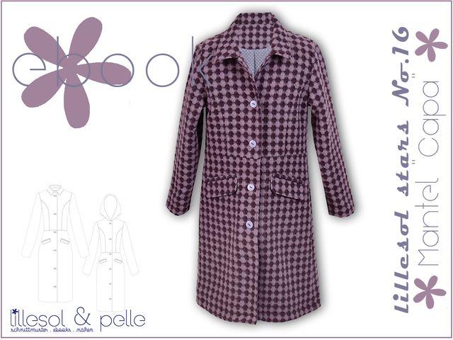 Produktfoto von Lillesol & Pelle zum Nähen für Schnittmuster Lillesol stars No.16 Mantel Capa