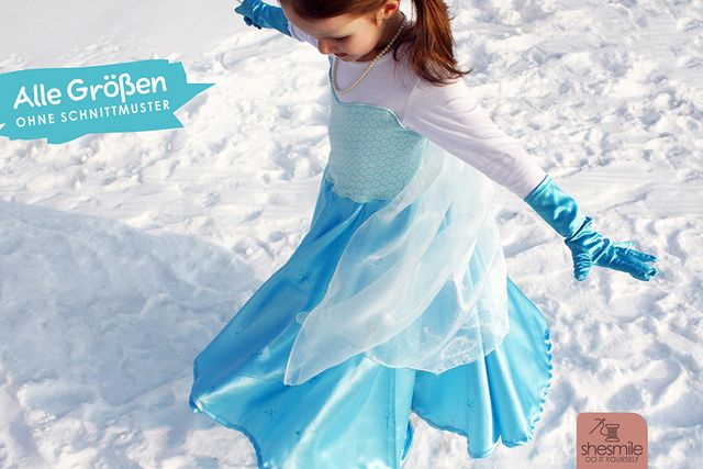 """Produktfoto von shesmile zum Nähen für Schnittmuster Kostüm """"Prinzessin"""""""