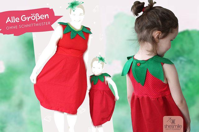 Produktfoto von shesmile zum Nähen für Schnittmuster Erdbeere - Ballonkleid