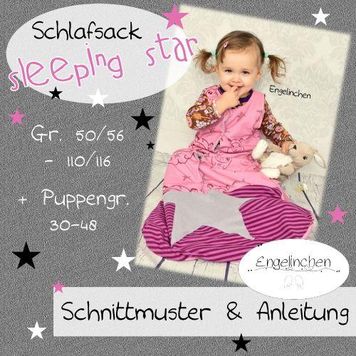 Produktfoto von Engelinchen für Schnittmuster Schlafsack Sleeping Star