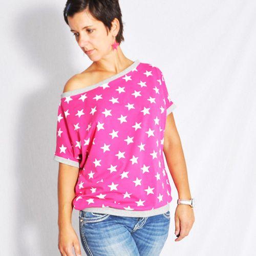 Produktfoto von Leni Pepunkt zum Nähen für Schnittmuster Shirt kalte Schulter