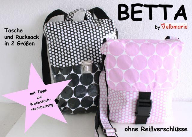Produktfoto von elbmarie zum Nähen für Schnittmuster Tasche und Rucksack Betta