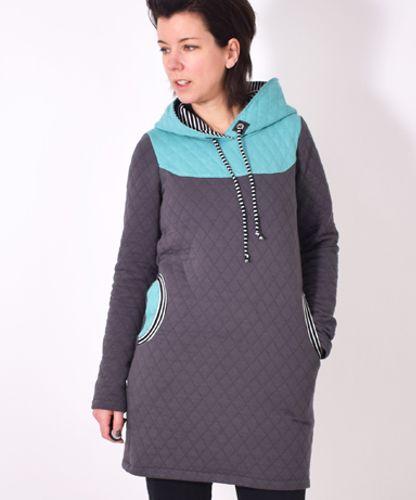 Produktfoto von Leni Pepunkt zum Nähen für Schnittmuster Damen Hoodie KAPUZIERT.4us