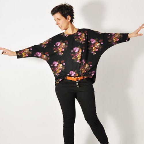 Produktfoto von Leni Pepunkt zum Nähen für Schnittmuster BAT.shirt