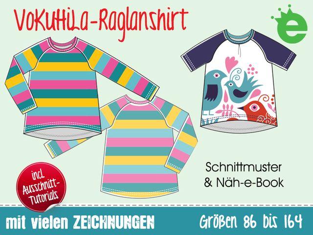 Produktfoto von Erbsenprinzessin zum Nähen für Schnittmuster VoKuHiLa-Raglanshirt