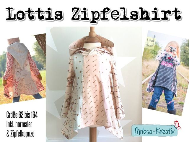 Produktfoto von MiToSa-Kreativ für Schnittmuster Lottis Zipfelshirt