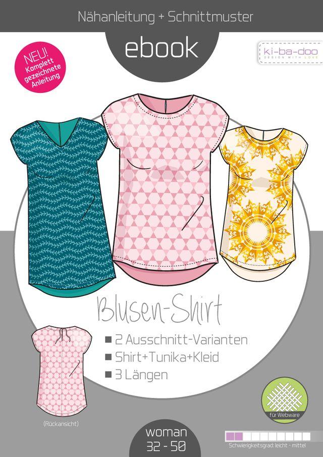 Produktfoto von ki-ba-doo zum Nähen für Schnittmuster Basic Blusen-Shirt Damen