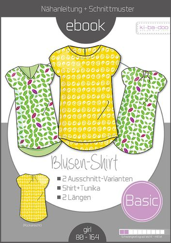 Produktfoto von ki-ba-doo zum Nähen für Schnittmuster Basic Blusen-Shirt