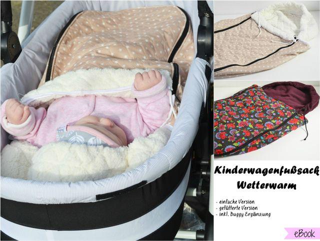 Produktfoto von Fräulein An zum Nähen für Schnittmuster Kinderwagenfußsack Wetterwarm