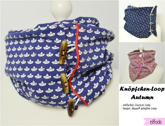 Produktfoto von Fräulein An zum Nähen für Schnittmuster Knöpfchenloop Autumn