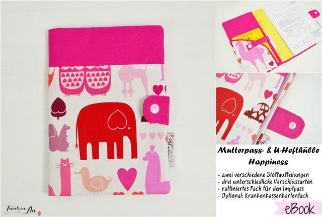 Produktfoto von Fräulein An für Schnittmuster Mutterpass- und U-Hefthülle Happiness