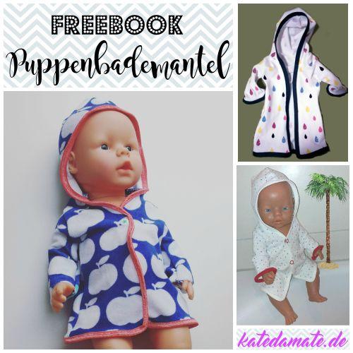 Produktfoto von Kate da Mate zum Nähen für Schnittmuster Puppenbademantel