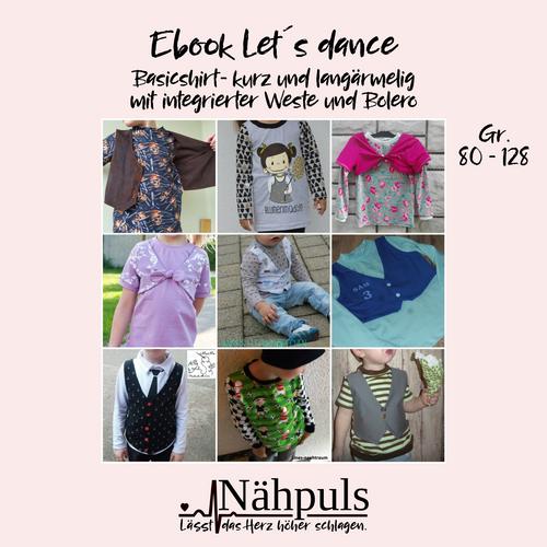Produktfoto von Nähpuls zum Nähen für Schnittmuster Kindershirt Let's dance