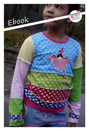 Produktfoto von Herzensbunt Design zum Nähen für Schnittmuster Farbklex - Der Pulli