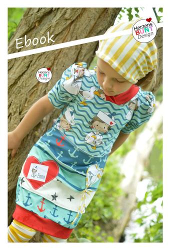 Produktfoto von Herzensbunt Design zum Nähen für Schnittmuster Farbklex - Das Pullikleid