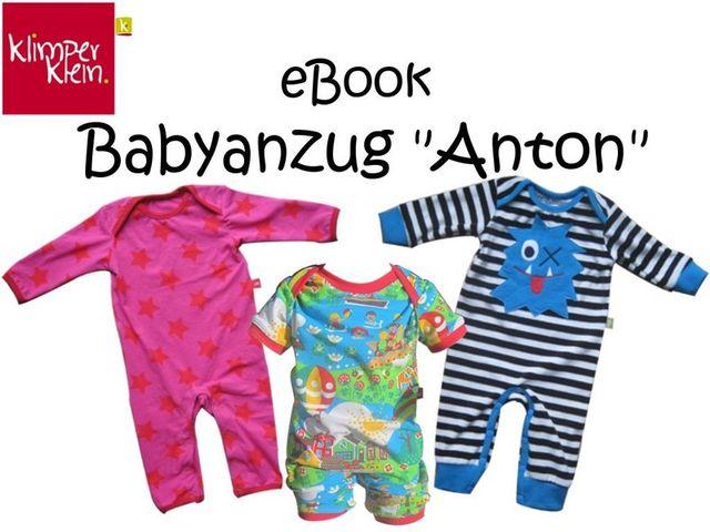 Produktfoto von klimperklein zum Nähen für Schnittmuster Babyanzug Anton