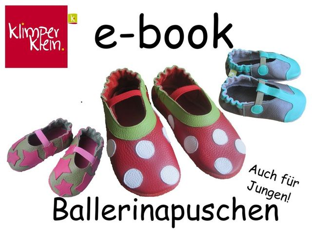 Produktfoto von klimperklein zum Nähen für Schnittmuster Ballerinapuschen