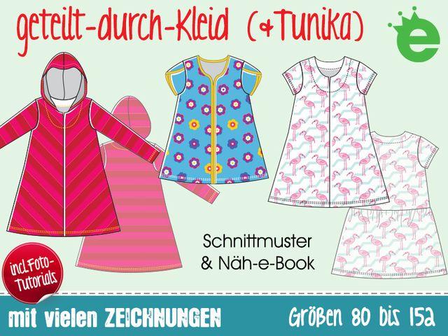 Schnittmuster geteilt-durch-Kleid (& Tunika) von Erbsenprinzessin
