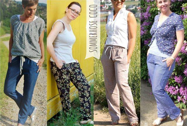 Produktfoto von Sara & Julez zum Nähen für Schnittmuster Sommerhose Coco